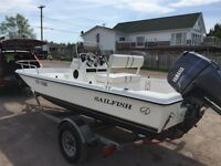 2000 sailfish center console with 50hp Yamaha 4 stroke