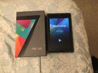 Google Nexus 7 tablet 16gb incl Case and original box, great condition