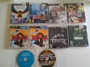 Jeux ps3 a vendre variés