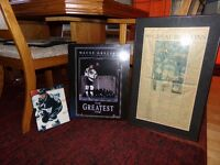 Wayne Gretzky Pictures and a unique framed Newspaper Article