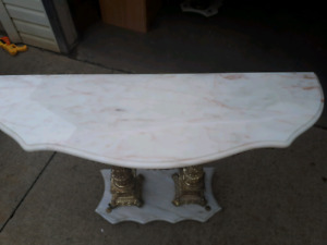 3 antique marble tables