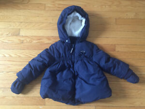 Winter jacket with removable gloves/hoodie