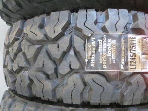 4 - LT245/75R16  NEW GOODYEAR OR COOPER TIRES M&S  $227.00 EACH