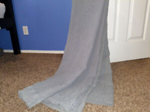 Grey standard sized curtains. Like new