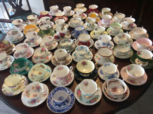 For sale fine bone china C&S at $ 19 a pair by Aynsley,