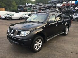 2005-2010 NISSAN NAVARA 2.5 DCi YD25 MAQNUAL/AUTO BLACK BREAKING FOR PARTS & SPARES