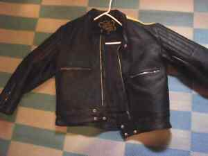 Geuuine leather fashion coat size 52 Kawartha Lakes Peterborough Area image 1