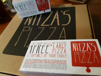 Free large 3 topping pizza if you donate to our hockey team