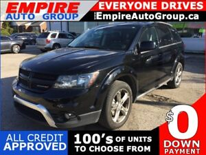 2017 DODGE JOURNEY CROSSROAD * AWD * LEATHER * 7 PASS * SAT RADI
