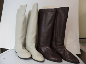 3 PAIRS WOMEN'S LEATHER HIGH BOOTS