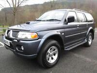 06/06 MITSUBISHI SHOGUN SPORT 2.5TD EQUIPPE 4X4 WITH ONLY 71,000 MILES