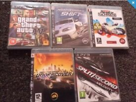 5 Ps3 Games gta burnout need for speed look