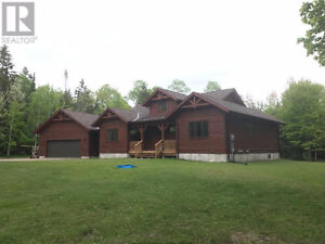 Confederation new Log home on Private lot