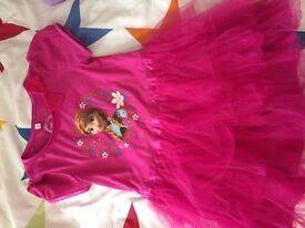 Girls clothes items aged 5-6, frozen dress, coat, bodywarmer