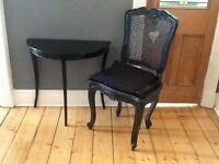 Black Dining / Occasional Period Chair