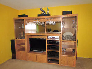 Television Stand Set (Made out of Authentic Wood)
