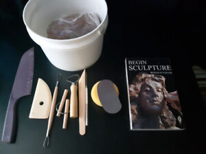 Beginner Clay Sculpting Set and Book