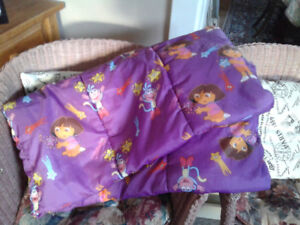 Dora the explorer child sleeping bag