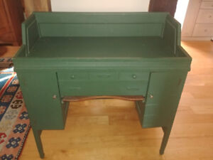Baby Change Table/Antique Watchmaker's Work Cabinet