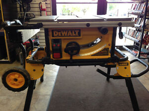 "10""Table Saw 32 - 1/2"" Rip Capacity, and a Rolling Stand"