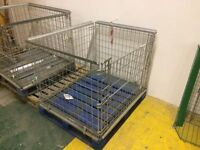 Folding pallet cage stillage to suit full size pallets