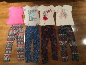 Lot de legging et chandail fillette 6-8 ans