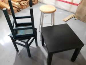 Small tables and stool for sale