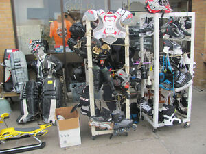 hockey skates mix sizes and equipment