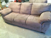 Microfiber Couch and Love Seat - FOR SALE