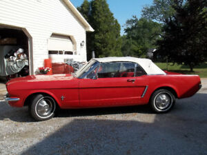 64 1/2 RED MUSTANG CONVERTIBLE
