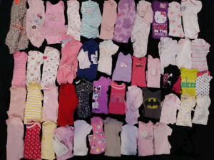Newborn and 0-3 month baby girls clothes