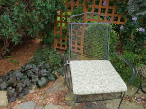 Wrought iron outdoor seating set