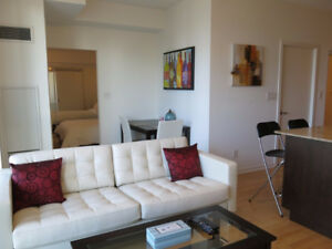 October: Furnished downtown 1 Bedroom + Den @ Maple Leaf Sq