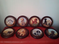 Lynn Katz, Limited Edition Field Puppy plates(8)