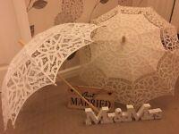 Wedding umbrellas and novelty items