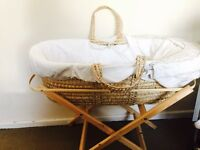 Brand new moses basket with stand from Mothercare