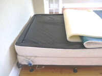 LUXURIOUS Soft-sided Queen Waterbed with Memory Foam Topper
