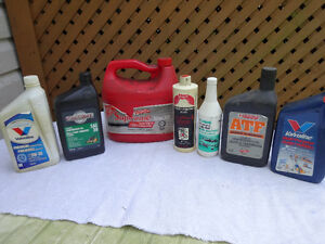 Motor and lawnmower oil, brake, transmission fluid...