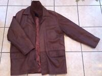 Men's Brown real leather jacket