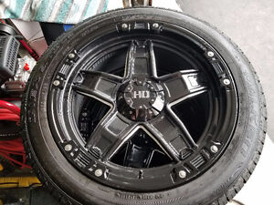 "22"" black HD Fast Wheels with new falken low pro's"
