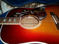 1972 GIBSON HUMMINGBIRD AOUSTIC / ELECTRIC