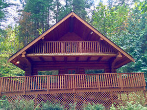 Beautiful Log Home on 5.8 acres Awaits Your Loving Family