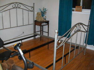 WROUGHT IRON QUEEN BED-SOLID 905-442-2000-AJAX BED ONLY.