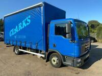MAN TGL 7.150 2009 59 7.5 ton 17ft Curtian side day cab automatic