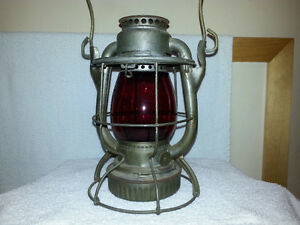 N.Y.C.S. Railway Lantern with Red Dietz Globe