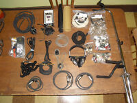 Full box of cables jacks stand plugs ac's daisy pedal tuner buff