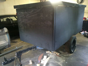 Home made flat black trailer