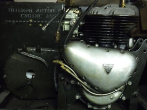 1956 TRIUMPH TRW MILITARY 500cc FlatHead  Rebuilt Motor.