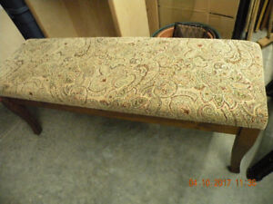 Nearly new Pier 1 Import - Upholstered Bedroom Bench