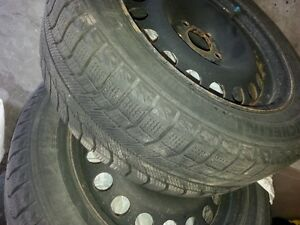 Winter Tires, Michelin X-Ice 2, set of four on rims Kitchener / Waterloo Kitchener Area image 2